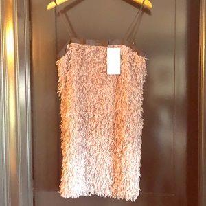 NWT - Zara Feather Effect Dress - Size M